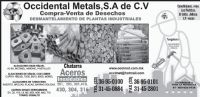OCCIDENTAL METALS, SA CV
