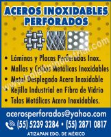 ACEROS INOXIDABLES PERFORADOS